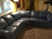 Blue leather sectional in Camp Pendleton, California