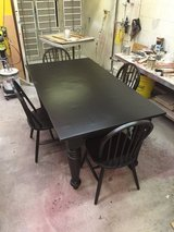 Custom Made Harvest Table Set in Chicago, Illinois