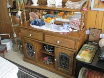 Oak Hi Top Buffet At Clark's Antiques in Camp Lejeune, North Carolina