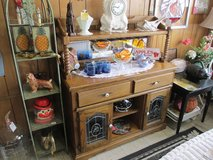 Oak High Top Buffet At Clark's Antiques in Cherry Point, North Carolina