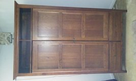 beautiful solid wood tv stereo cabinet in Camp Lejeune, North Carolina