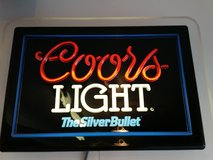 COORS LIGHT, SILVER BULLET - LIGHTED BEER SIGN in Joliet, Illinois