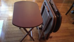 Brown wooden 4 tables set in Bolling AFB, DC