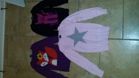 Girls Faded Glory Sweater Lot of 3 Size Large Cat/Star/Fox in Leesville, Louisiana
