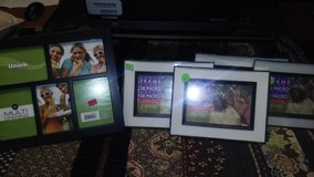 4 - black plastic picture frames in Lockport, Illinois