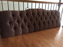 King Tufted headboard- Chocolate Brown in Plainfield, Illinois