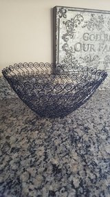 NEW Large Metal bowl/basket decorative in Chicago, Illinois