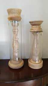 NEW Glass&wood candle pillars in Chicago, Illinois