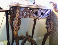 1930's  Pair of french rococo walnut ornately carved end tables in Lockport, Illinois