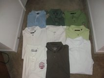 Lot of Men's size L polo shirts in Fort Benning, Georgia