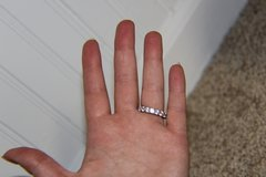 Faux Diamond Eternity Ring Size 7 in Glendale Heights, Illinois