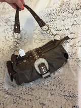 Purse#3 Brown & Silver in Fort Campbell, Kentucky