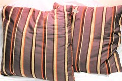 "2 Feather Down Pillows by Fashion Brown Maroon Orange Tan Cream Beige 18"" in Kingwood, Texas"