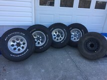 REDUCED  Ion Alloy rims and BF Goodrich tires in Camp Lejeune, North Carolina