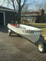 14 foot aluminum Boat with trailer in Lockport, Illinois