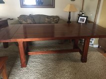 All Wood Trestle Extension Table with 2 leaves in Fairfield, California
