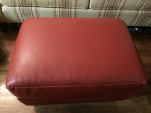 ottoman leather, solid wood tv stand, side table in Temecula, California