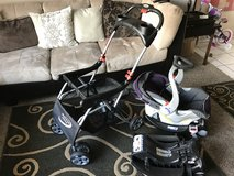 Baby Trend car seat, 2 bases, Baby Trend Stroller in San Diego, California
