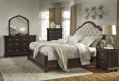 Beautiful Queen Bed by Ashley,Reduced !!!!! in Camp Lejeune, North Carolina