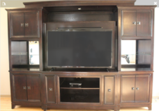 Large Wooden Entertainment Center in Fairfield, California