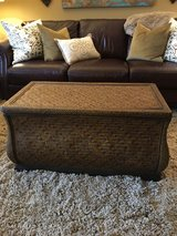 *LIKE NEW* Z Gallerie woven/rattan coffee table, storage chest, trunk in Glendale Heights, Illinois