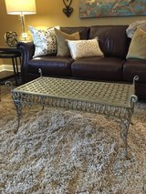 *LIKE NEW* Z Gallerie distressed wrought iron bench, coffee table in Glendale Heights, Illinois