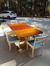 1951 Brandt 50th Anniversary Duncan Phyfe Solid Wood Dining Room Table and Chairs in Fort Rucker, Alabama