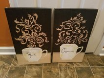Black / Wooden Cappuccino / 2 Piece Picture Set in Fort Campbell, Kentucky