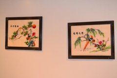 Embroidered silk screens (includes 3) in Glendale Heights, Illinois