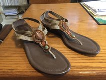 New Women's Sandals with 3 Jewels/Stones  & Stretchy Straps- Merona - Size 11 in Glendale Heights, Illinois
