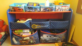 Cars toy organizer in Glendale Heights, Illinois