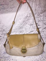Purse#9 Liz Claiborne yellow tan in Fort Campbell, Kentucky