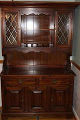 Dining Room Hutch and Table, Solid Pine, excellent condition in Camp Lejeune, North Carolina