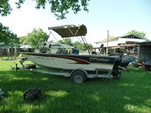 17' Fisher 2000 with 50 hp Mercury and trailer in Baytown, Texas