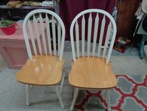 pair of solid oak chairs in Wilmington, North Carolina