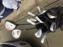 Golf clubs and shoes in bookoo, US