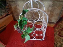 wrought iron wine rack antiqued in Wilmington, North Carolina