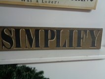 "sign wooden ""SIMPLIFY"" in Wilmington, North Carolina"