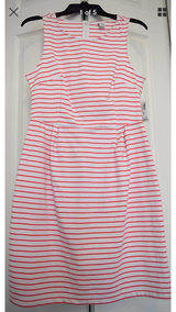 Coral white striped tank dress old navy M in Gordon, Georgia