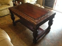 Late 19th Century French Renaissance Library/Entry Table in Fort Polk, Louisiana