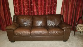 Large Leather Couch in Batavia, Illinois