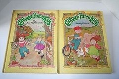 2 Vintage 1984 Cabbage Patch Kids Hard Cover Books Making Friends & Just The Right Family Parker... in Shorewood, Illinois