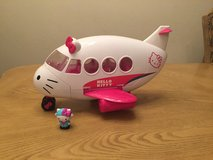 Hello Kitty Airplane and Hello Kitty figure in Fort Bliss, Texas