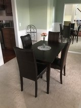 Dining Room Set (4 faux leather chairs and dining table) in Kansas City, Missouri