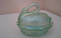 Fenton Swan Covered Glass Basket in Conroe, Texas
