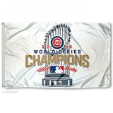 Cubs 2016 World Series Champions Flag in Schaumburg, Illinois