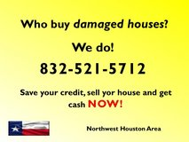We buy damaged houses in bookoo, US