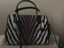 Coach Madison Mini Satchel in Zebra Print in Batavia, Illinois