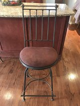 pair of wrought iron counter height barstools in Batavia, Illinois