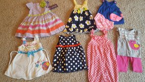 Lot of 18 month girl spring summer clothes, dress NEW with tags! in Bartlett, Illinois